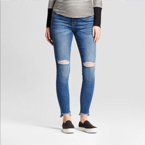 Denim - Isabel Maternity Crossover Panel Skinny Jeans.